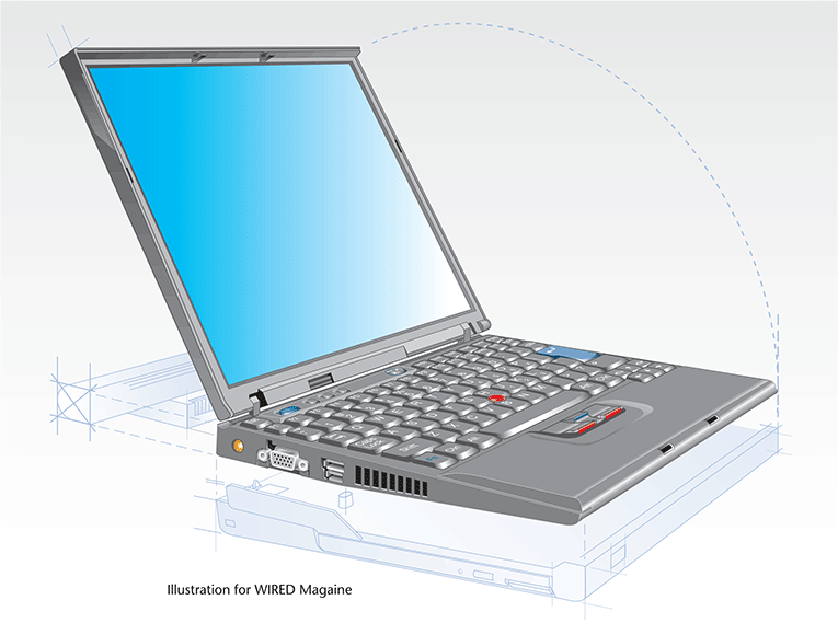 Section view: IBM Think Pad / WIRED