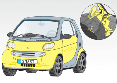 Color Illustration: Smart Cars come to America