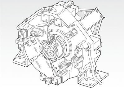 Cutaway: RME / Laser Guiding Fast Steering Mirror / Front