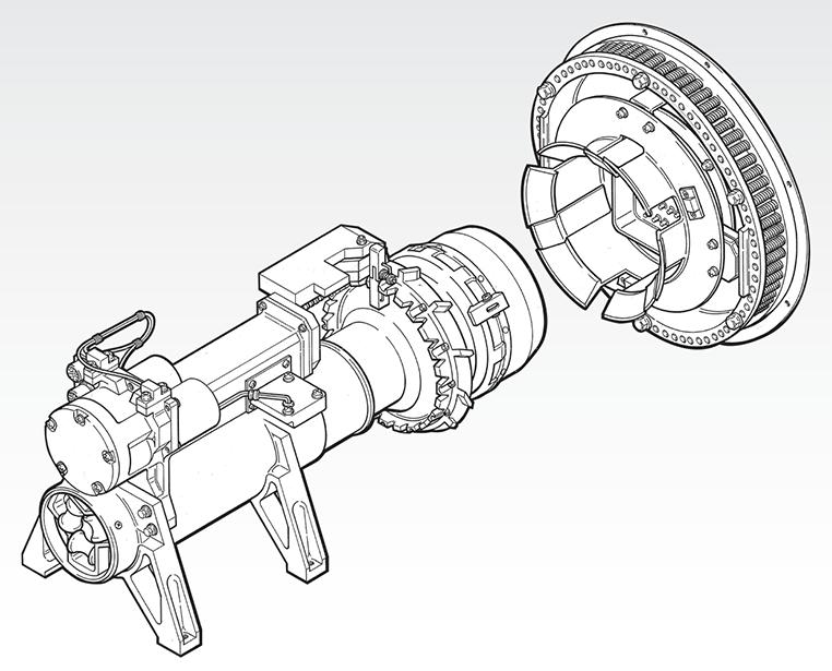 Dimetric view: SAM II / Actuator Mechanism