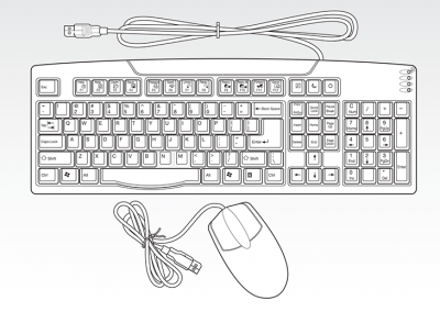 "Line Art: AMD ""Geode"" PIC / Keyboard & Mouse"