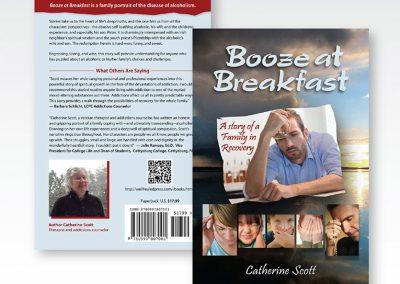 "Book Cover Design: ""Booze for Breakfast"""