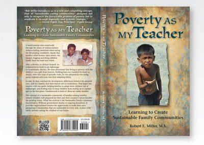 """Book Cover Design: """"Poverty as My Teacher"""""""