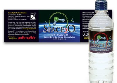 "Packaging: ""Space2O"" Water Beverage Label"
