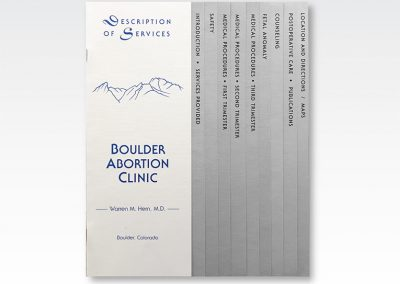 "20-page Booklet: ""Medical Clinic Capabilites Booklet"""