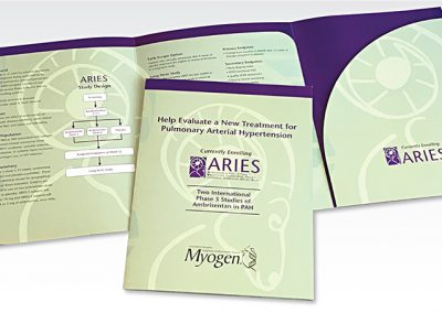 Pocket folder: Myogen / Aries Medication Study