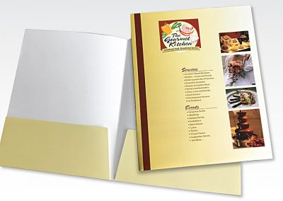 Pocket folder: Gourmet Kitchen Catering