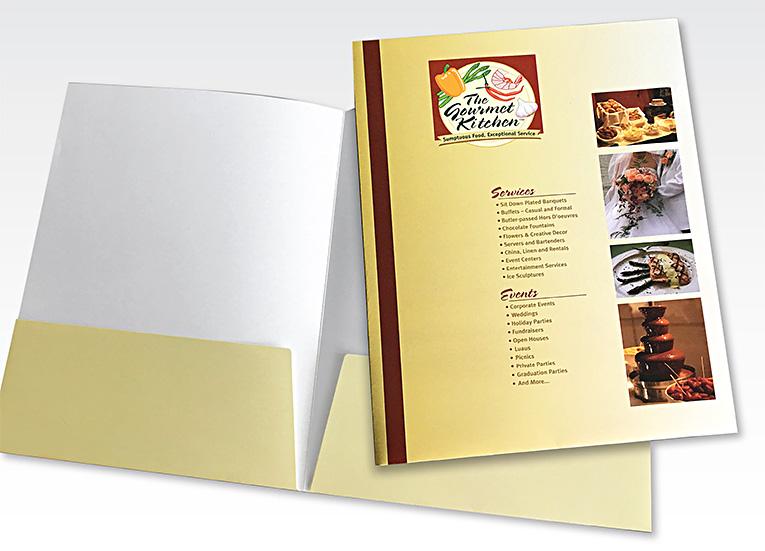 Pocket folder: Gourmet Kitchen Catering