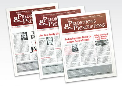 "Business Newsletters: ""Predictions & Prescriptions"""