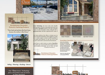 "Trifold brochure: ""StoneSkinz® Protective Products"""