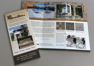 Trifold Brochure: StoneSkinz Products