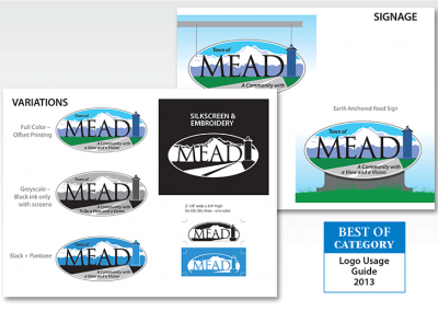 "AWARD – Best Use of LOGO USAGE GUIDE – ""Town of Mead"""