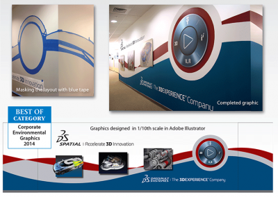 AWARD –  Best Use of CORP. ENVIRONMENTAL GRAPHICS – 2013