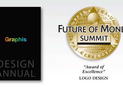 "Award of Excellence: Event logo ""Future of Money Summit"""