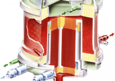 "Color Illustration: ""Blood Oxygenator"" by Medtronic Medical"