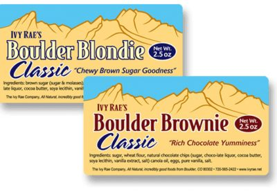 """Packaging / Product Labels: """"Ivy Rae's Blondies & Brownies"""""""