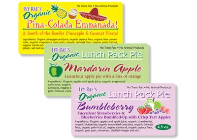 "Packaging / Product Labels: ""Ivy Rae's Hand Pies"""