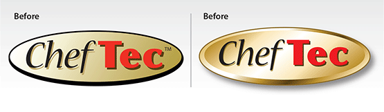 "Before & After – Logo Facelift: ""ChefTec® Software"""
