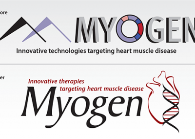 "Before & After – Logo Redesign: ""Myogen, Inc."""