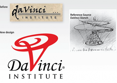 "Before & After – Logo Redesign: ""DaVinci Institute"""