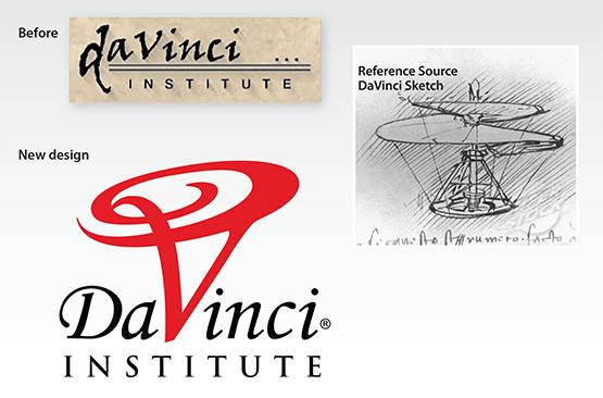 "Before & After – Logo Redesign: ""DaVinci Institute"""
