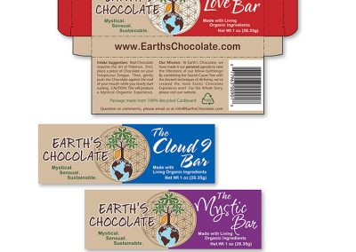 "Packaging Design / Die-Cut Box: ""Earth's Chocolate"""