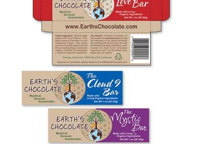 "Packaging Design / Die-Cut Box: ""Earth's Chocolate"""