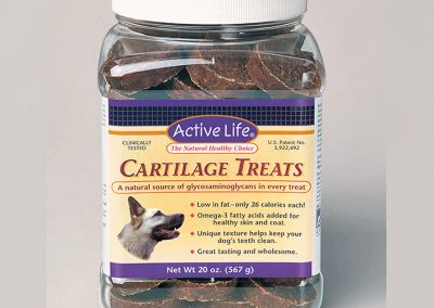 "Packaging / Jug Label Art: ""Active Life Pet / Cartilage Treats"""