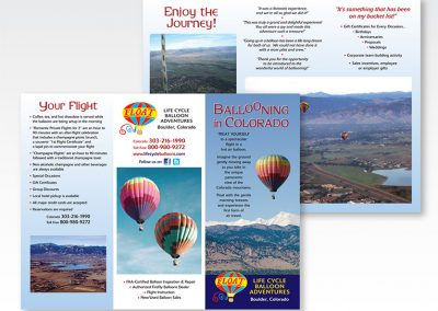 "Brochure Design / Trifold: ""Life Cycle Balloon Adventures"""