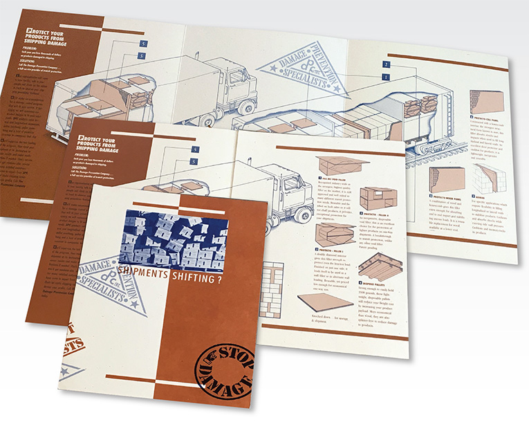 "Brochure Design / 6-panel Brochure: ""Damage Prevention Company"""