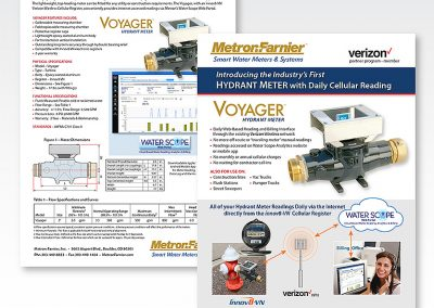 "Print Design — Sales Sheet: ""Voyager Portable Meter"""