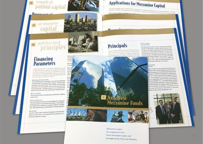 """Brochure Design: Capabilities """"NewWest Mezzanine Funds"""""""