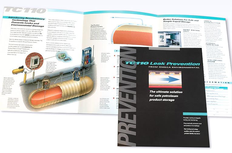 "Brochure Design / 6-panel: ""Omega Environmental Storage"""