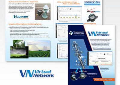"Brochure Design / Product: ""Virtual Network"" Utility Data Communication"