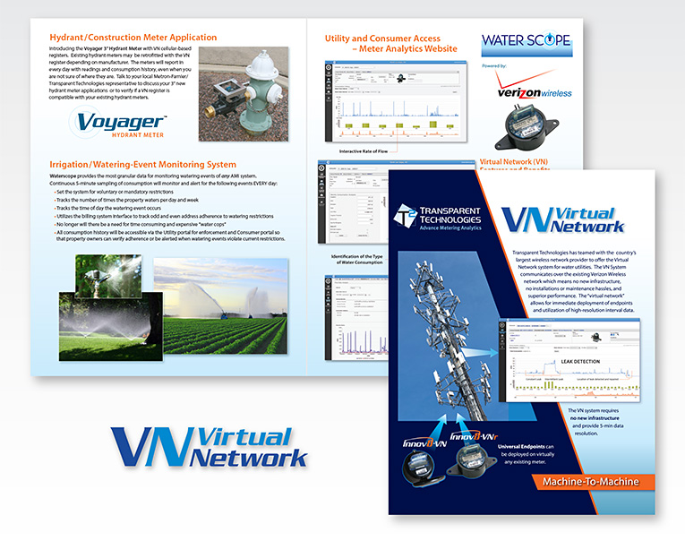 "Brochure Design / Product: ""Virtual Network"" Utility Data Communication"