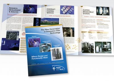 "Brochure Design / 6 Panel: ""VaporTech Thin Film Technology"""