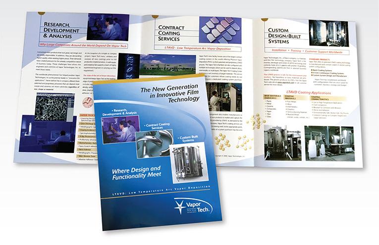 """Brochure Design / 6 Panel: """"VaporTech Thin Film Technology"""""""