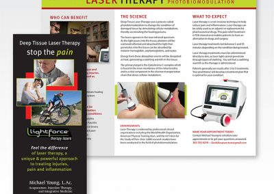 "Brochure Design / Trifold: ""Laser Therapy"""