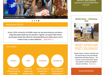 "Web Design: ""WADSCO / West African Development Support Organization"""