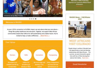 """Web Design: """"WADSCO / West African Development Support Organization"""""""
