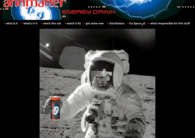 "Web Design: ""Antimatter Energy Drink"" Beverage"