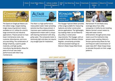 "Web Design: ""Metron-Farnier Smart Water Meters"""