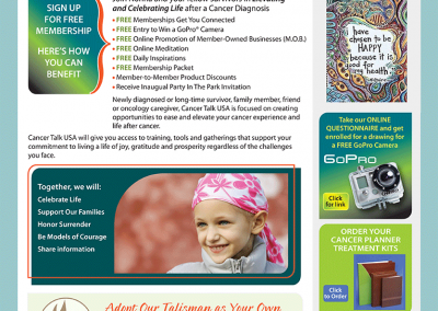 "Web Design: ""CancerTalk USA / Cancer Support"""