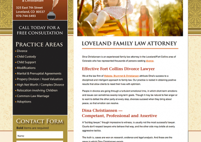 "Web Design: ""Christensen Law / Divorce Attorney"""