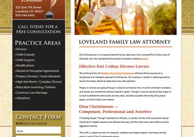 """Web Design: """"Christensen Law / Divorce Attorney"""""""