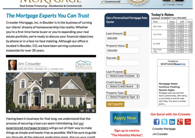 "Web Design: ""Mortgage Broker / Crowder Mortgage"""