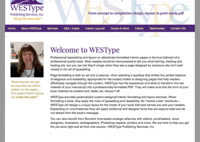"Web Design: ""WESType Book Production"""