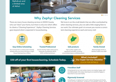 "Web Design: ""Zephyr Cleaning"""